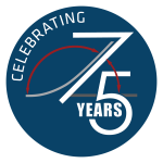 Celebrating 75 Years logo - OPTION 2