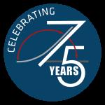 Celebrating 75 Years logo - OPTION 2